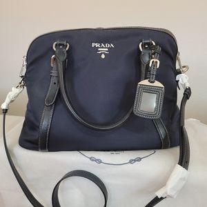 Authentic Prada Crossbag/Purse Navy Blue